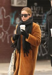 coat,ashley tisdale,fur,fur coat,brown,winter coat,winter outfits