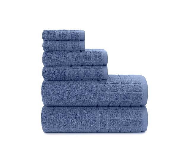 Dobby Check Double 6 Piece Towel Set