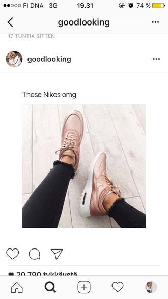 shoes nike sneakers shiny nude nike shoes nude sneakers