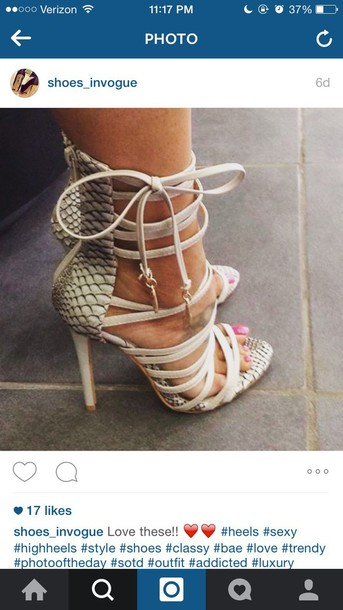 38c97da3fd6 shoes snake print strappy heels heels sexy shoes party shoes