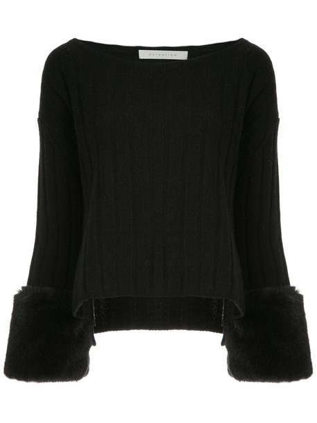 Estnation jumper women black wool sweater