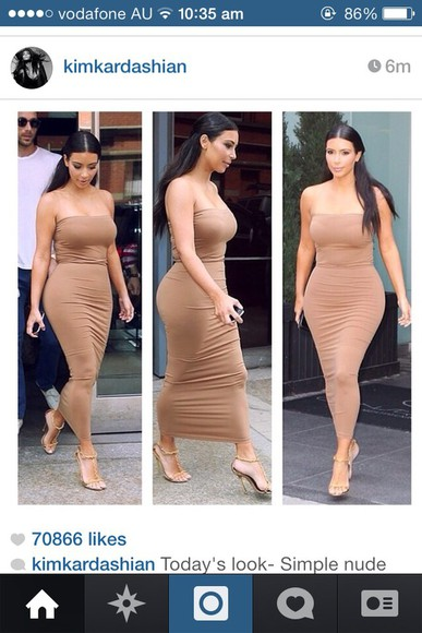 bustier dress kim kardashian