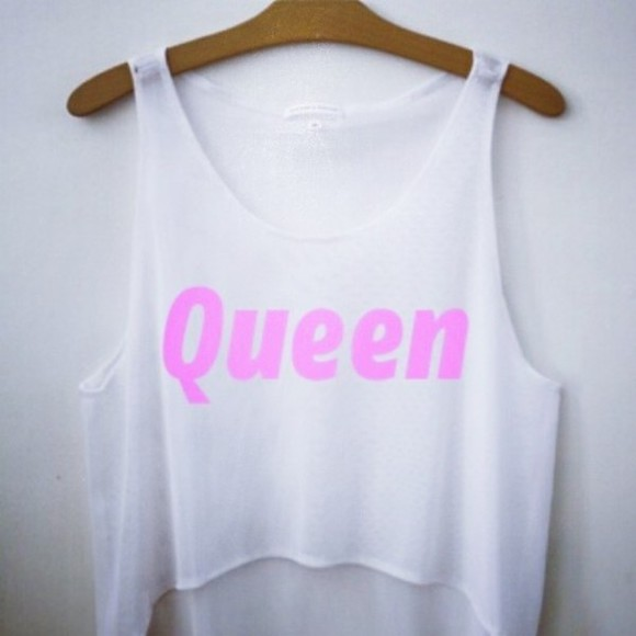 queen tank top crop tops