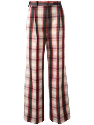 women wool red pants