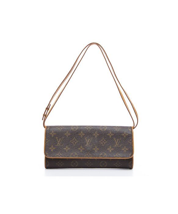 Louis Vuitton Pre-Owned Louis Vuitton Monogram Canvas Twin GM Bag | BLUEFLY up to 70% off designer brands