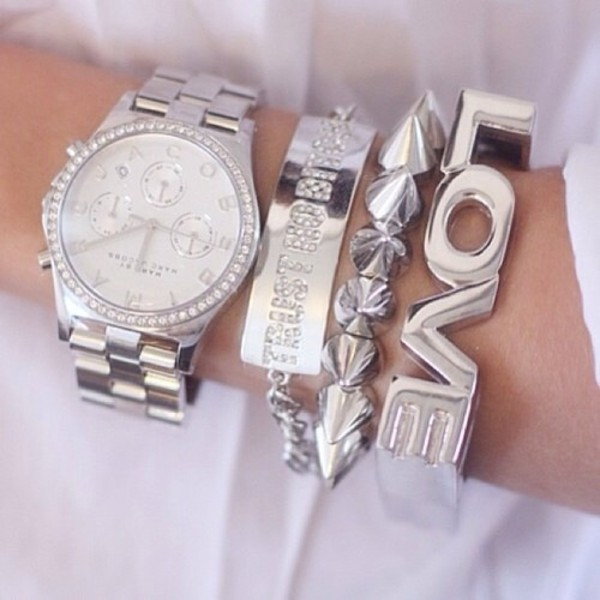 jewels watch bracelets silver fashion glitter