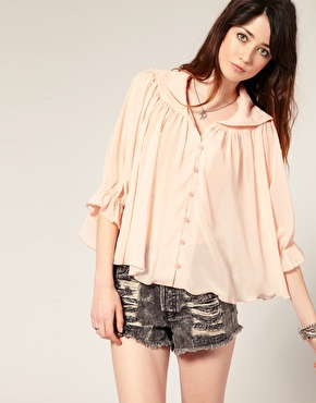 Minkpink – gypsy rose – transparente bluse bei asos