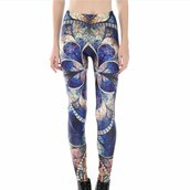 leggings,retro totem leggings,womens leggings,buy womens leggings online