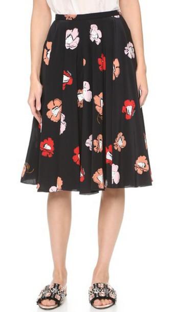 Rochas skirt print black