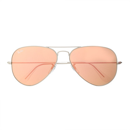 Ban® original aviator sunglasses with flash mirror lenses