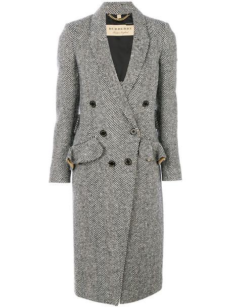 Burberry coat women black wool