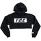Fcc crop box logo hoodie in black