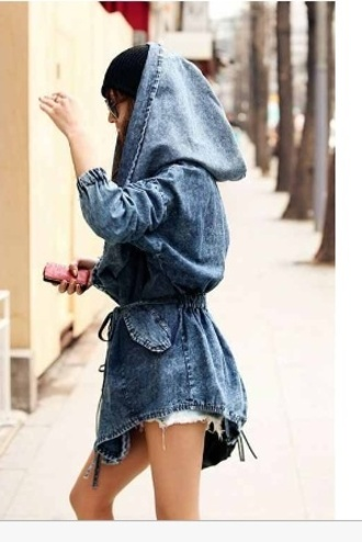 jacket denim jacket hood