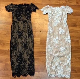 dress black dress black lace lace dress classy dress dressy off the shoulder dress midi dress
