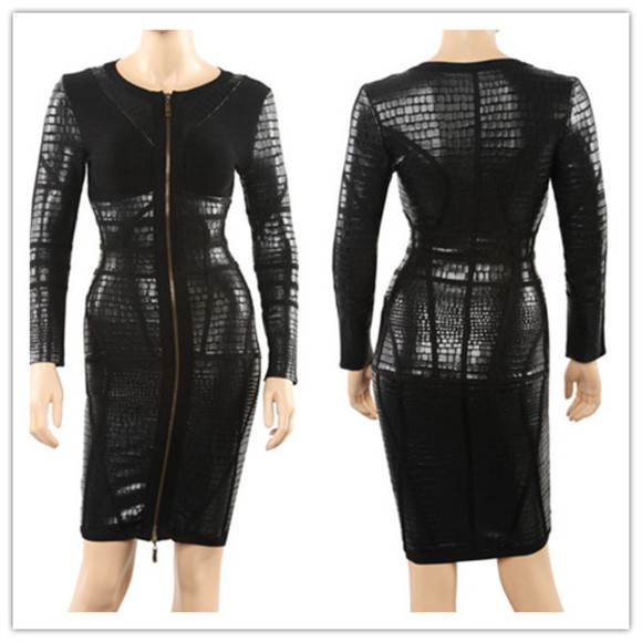 bandage dress little black dress leater dress