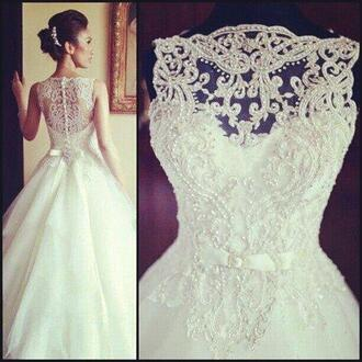 dress wedding dress wedding clothes a-line wedding dresses wedding dress whitedress wedding lace lace dress lace wedding dress long dress white white dress nude beautiful white dress princess wedding dresses beautiful lace