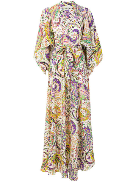 gown women floral silk dress