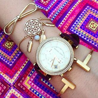 jewels jewel cult bracelets jewelry stacked bracelets gold gold bracelet bow dreamcatcher dreamcatcher bracelet