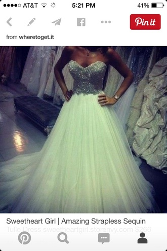 dress white dress white bling badazled jewels prom dress prom gown wheredoigetit beautiful ball gowns