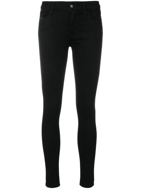 Diesel jeans skinny jeans women spandex cotton black