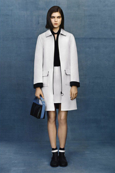 balenciaga blouse coat skirt