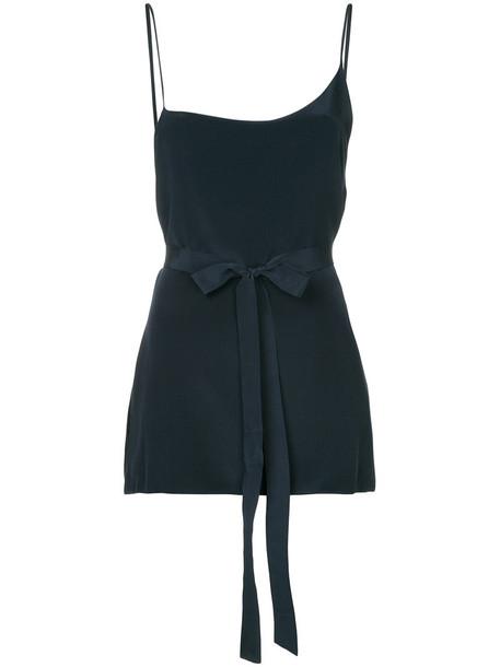 Kacey Devlin top women black silk