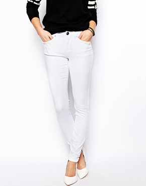 New look white skinny jean at asos