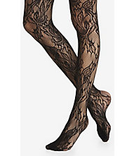 Lace and fishnet sheer full tights from express
