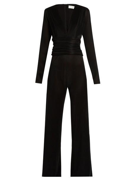 Galvan jumpsuit pleated black
