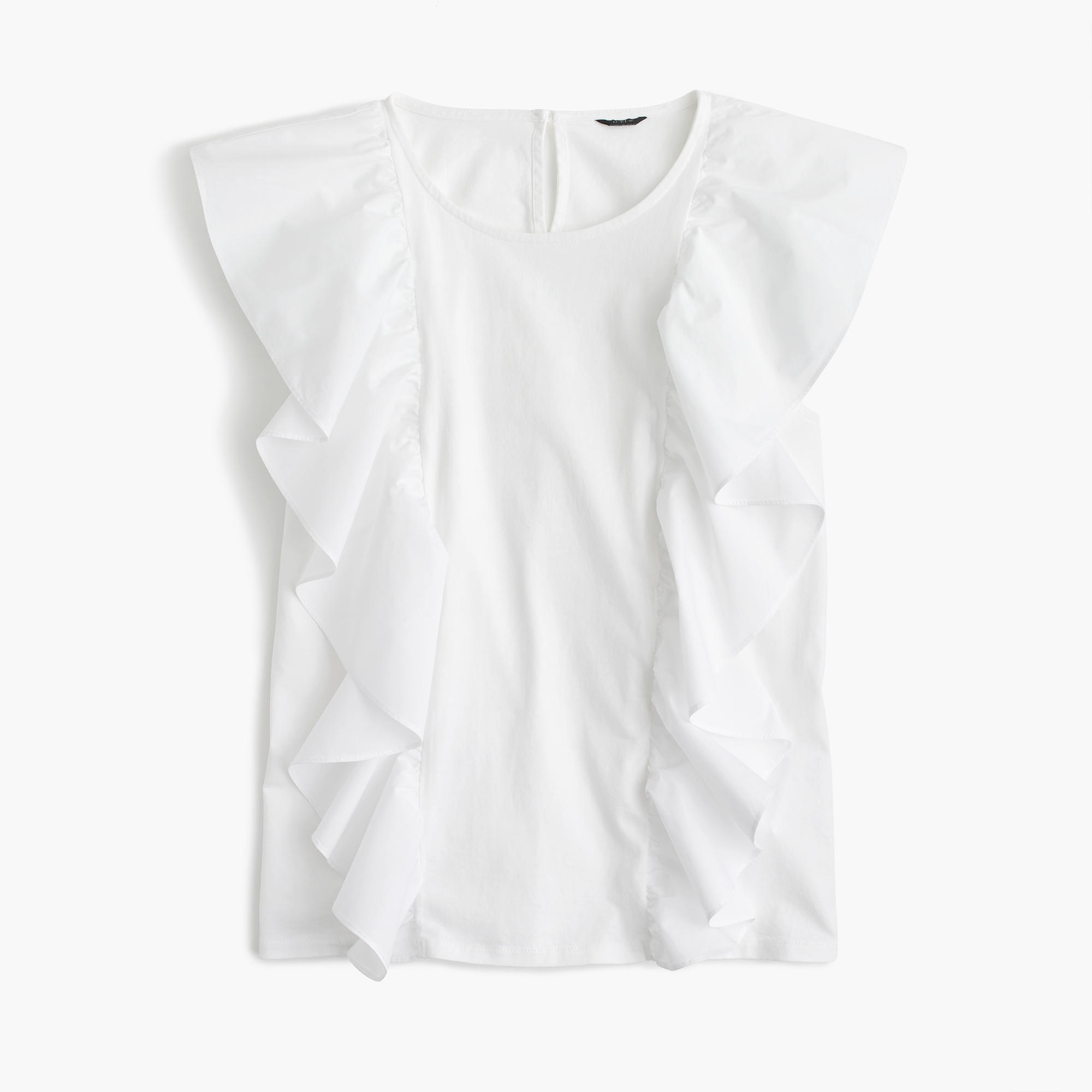 Ruffle-front top