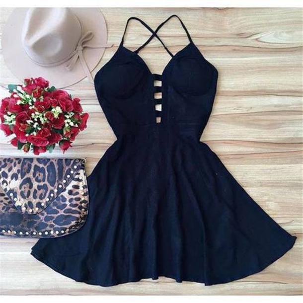 59b0e8bfda dress black dress summer sun black women outfit date dress nightwear black  sexy dress v neck
