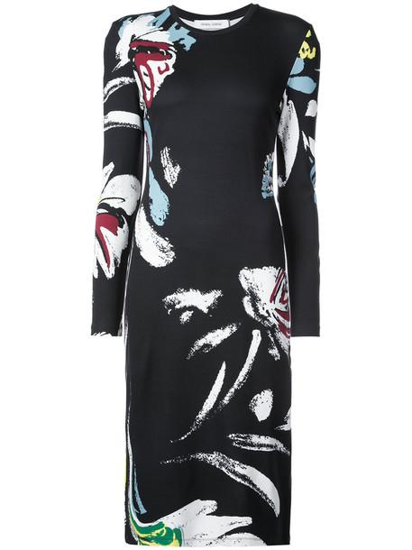 Prabal Gurung dress women floral print black knit