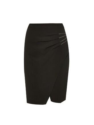 skirt wrap skirt white black