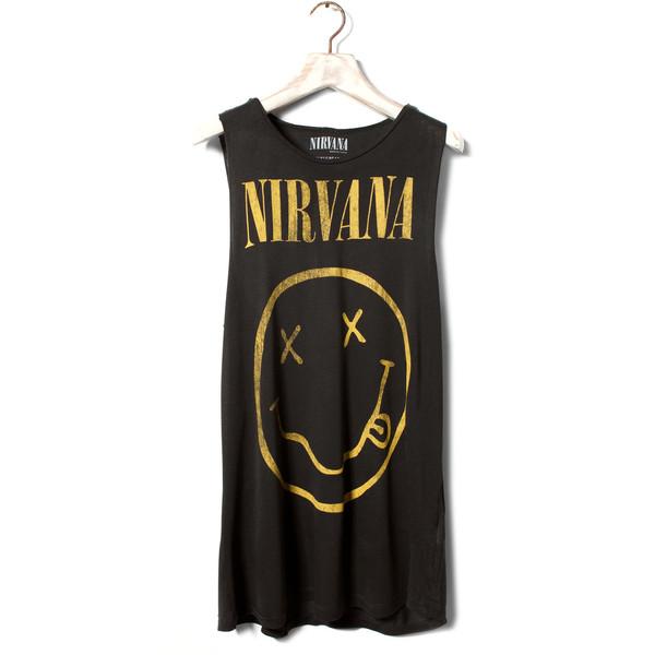 Pull & Bear Nirvana Top - Pull&Bear - Polyvore