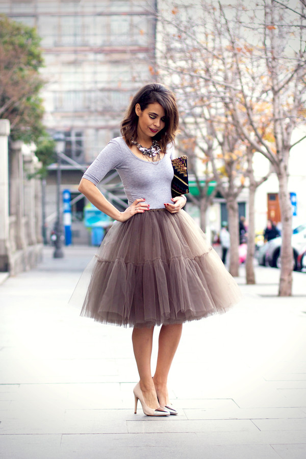 Tea Length Tulle Skirt
