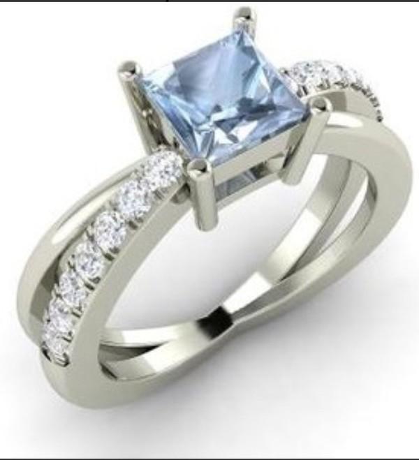 jewels ring topaz blue topaz silver and blue jewellery diamonds bezel set antique/vintage setting engagement ring blue wedding accessory