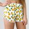 Pineapple pom pom hem wrap shorts white - spsboutique