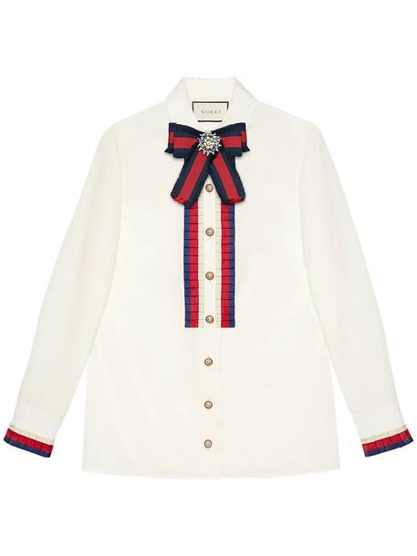 gucci shirt women white cotton top