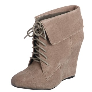 by Steve Madden Women's 'P-Darah' Fold-over Lace-up Wedge Booties ...