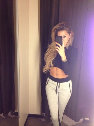 jeans sweatpants pants gray harem zipper