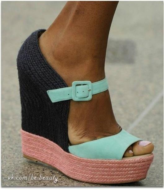 shoes wedges sandals platform high heels