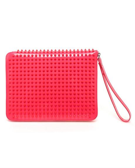 e3be99d631ce1 Christian Louboutin Cris Studded Leather Ipad Case in Red (pink) | Lyst