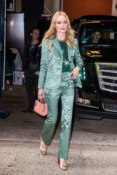 pants blazer sandals kate bosworth blouse top suit