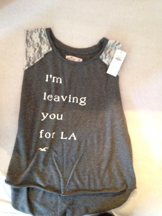 """Hollister T-Shirt """"I'm leaving you for LA"""" - kleiderkreisel.at"""