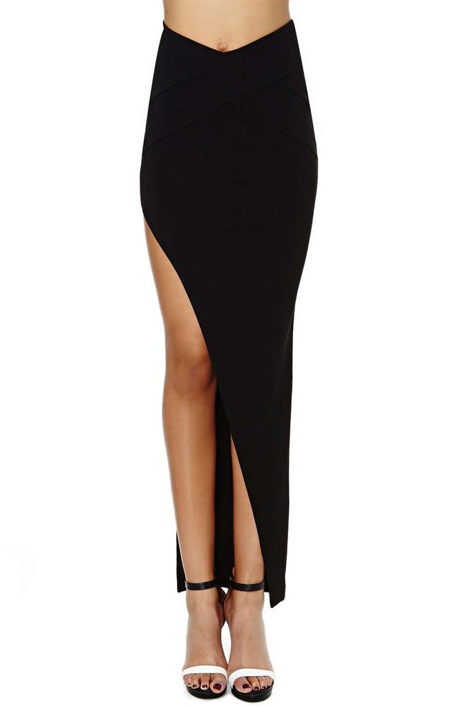 Be Bold Zipper High Slit Maxi Skirt – Shop Compulsive