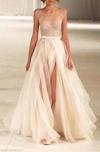 dress formal dress white dress sheer prom dress