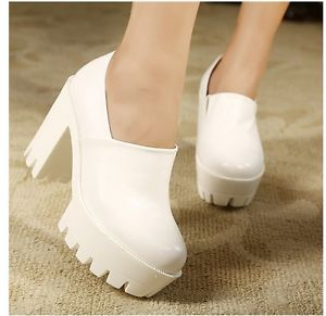 Hot Sale Fashion Womens Creeper Shoes Punk Retro Chunky Platform High Heels Pump | eBay