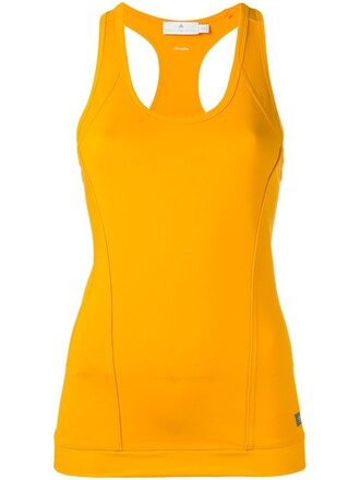 tank top top fitness tank yellow orange