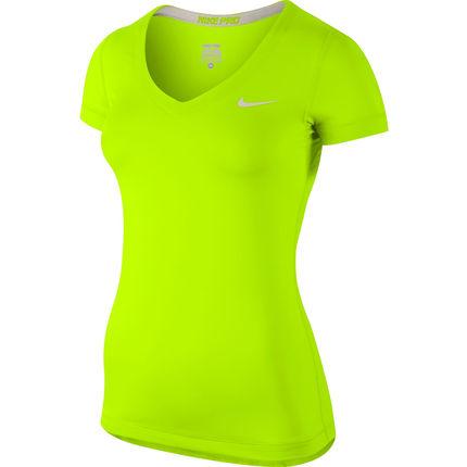 Wiggle | Nike Women's Pro Short Sleeve V Neck - SP14 | Compression Base Layers