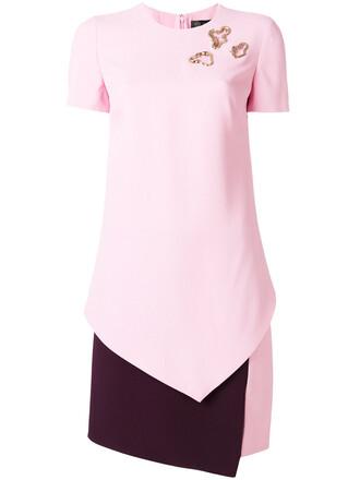 dress embellished dress women embellished silk purple pink
